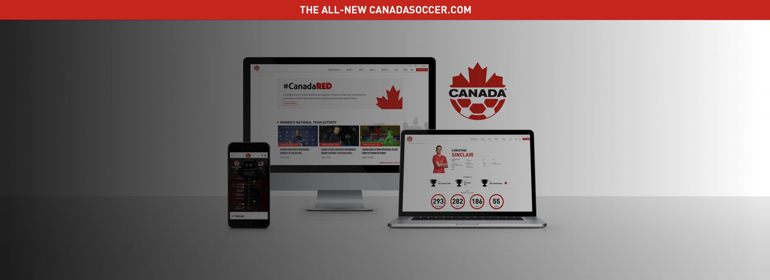 The new canadasoccer.com - Home Page Banner