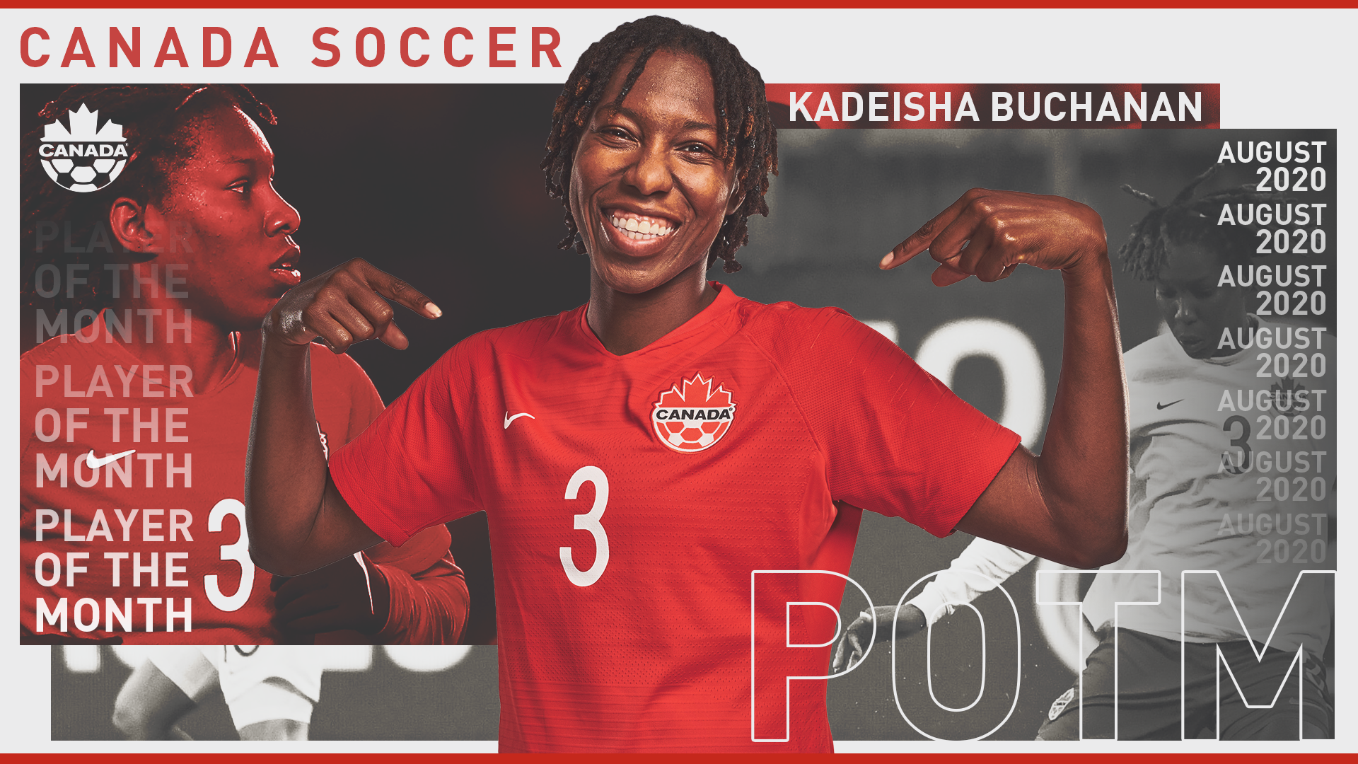 Kadeisha Buchanan, player of the Month
