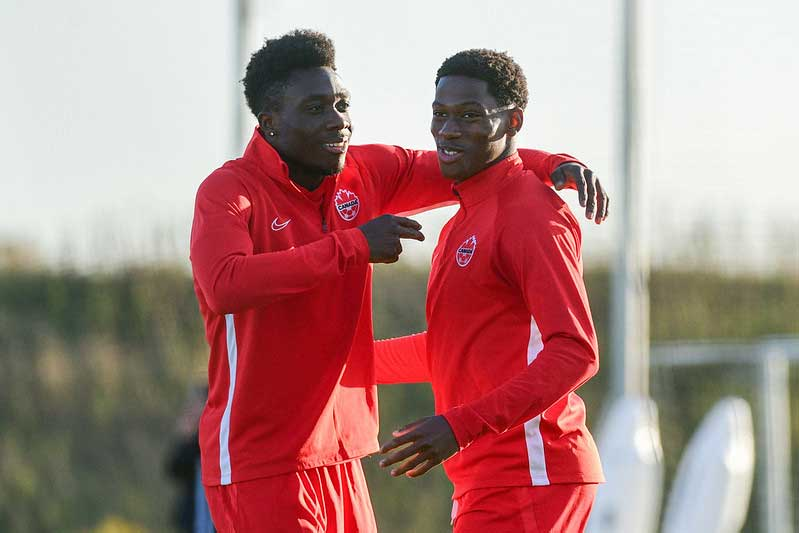 Alphonso Davies and Jonathan David