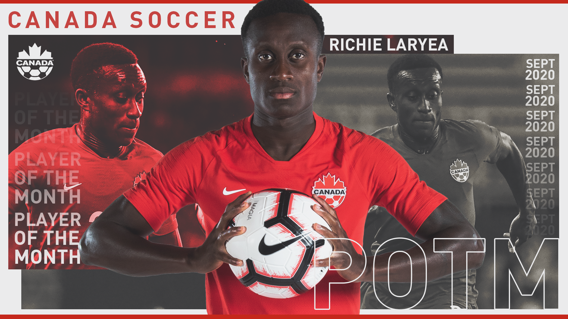 Richie Laryea, Player of the Month