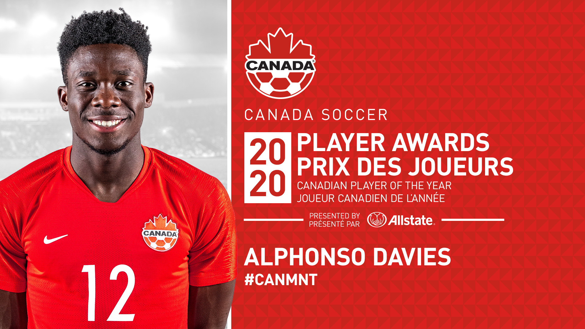 2020 POTY 1920x1080 SR MNT - Alphonso Davies picked Canada's best football player